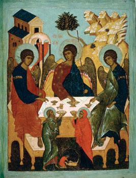 Троица Ветхозаветная. 1671. Симон Ушаков. ГРМ
