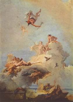 Giovanni Battista Tiepolo. Боги на Олимпе